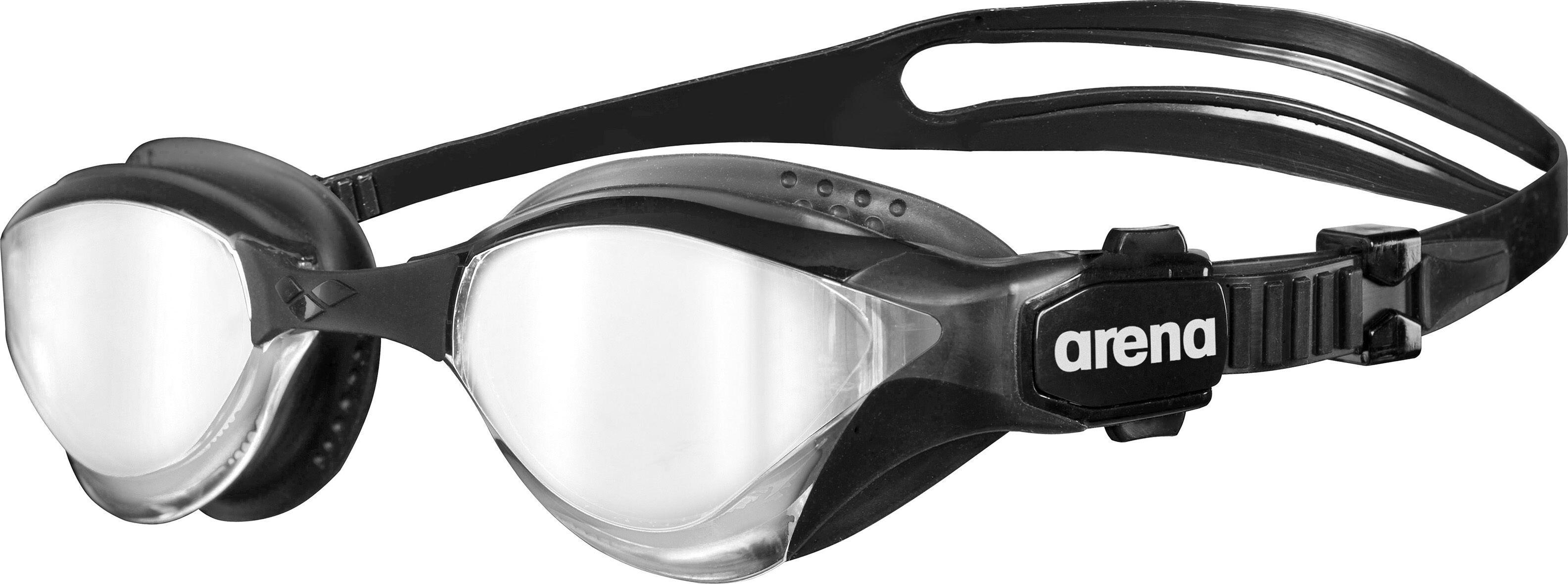 04d1b9356fe arena Cobra Tri Mirror Svømmebriller, silver-black-black | Find ...